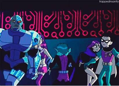 Raven Robin Cyborg Starfire Titans Teen Beast
