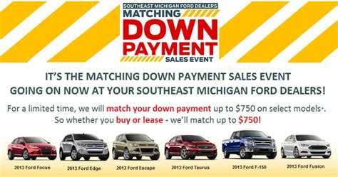 Brighton Ford : Ford Matching Down Payment Sales Event