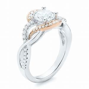 twist diamond engagement ring 102489 With twist wedding ring