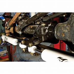 Zone Offroad Dual Steering Stabilizer Kit Black For Ford F