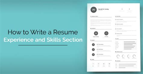 how to write a resume skills and experience section