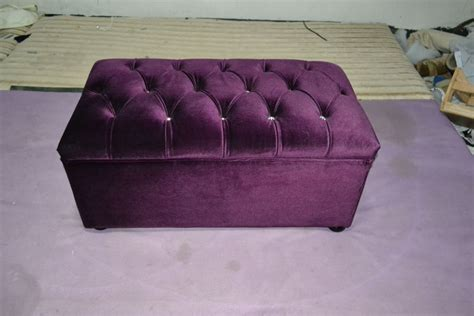 purple velvet ottoman xy0181 buy purple velvet