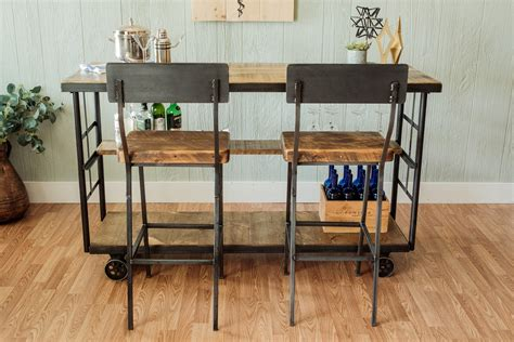 Rolling Bars For Home by Vintage Cart Rolling Bar With Shelf Napa East