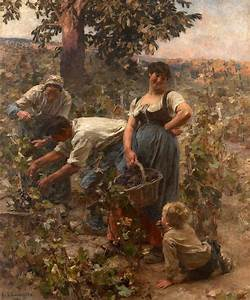 The Grape Harvest Painting by Leon-Augustin Lhermitte
