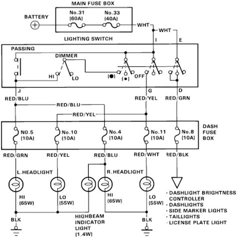 1991 Honda Accord Brake Light Wiring Diagram by 1999 Honda Accord Headlight Wiring Diagram