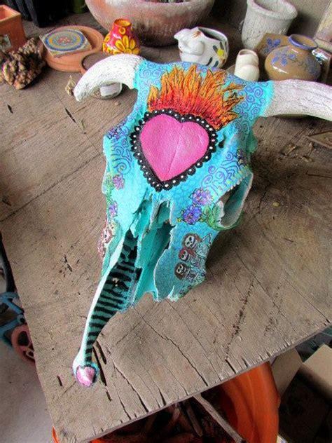 Day Dead Sugar Skull Real Steer Handpainted