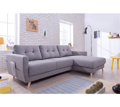 canapé d angle scandinave canapé d 39 angle droit scandinave tissu gris stockholm