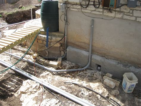 House Remodelling Underground Electrical Conduit