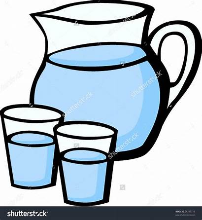 Water Clipart Pitcher Glasses Jug Cup Glass