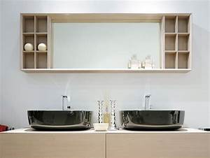 Compono system 180 miroir rectangulaire by ceramica for Salle de bain design avec rangement salle de bain castorama