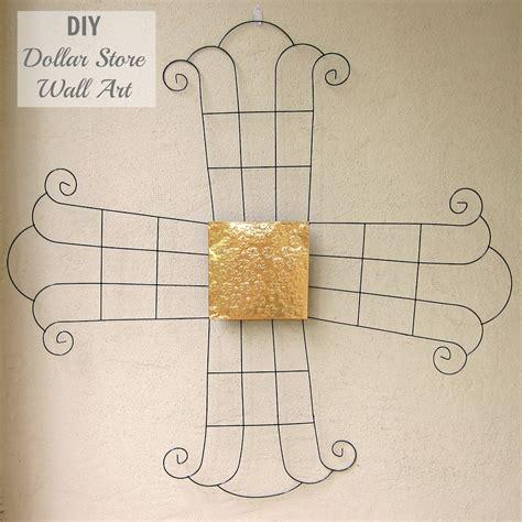Diy indigo wall art with framed fabric. DIY Metal Wall Art from Dollar Tree Items - Morena's Corner