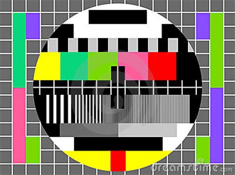 color test  television screen stock photo image