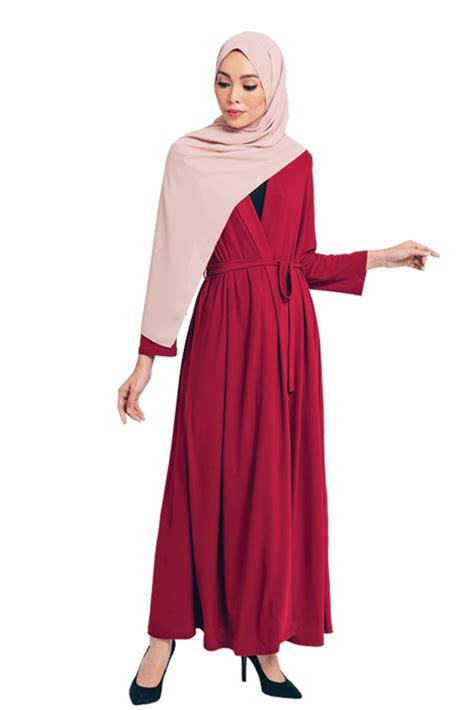 deema jubah dress robe  maroon