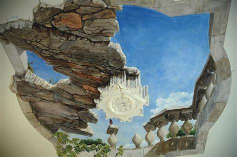 peinture murale trompe l oeil wim de prez plafond