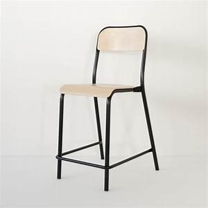 Chaise D école : chaise d 39 cole rehauss e noire made in france ~ Teatrodelosmanantiales.com Idées de Décoration
