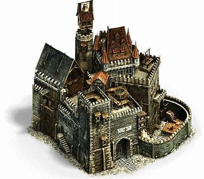 Medieval Middle Ages Building Anno Fantasy Castle