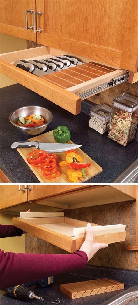 Kitchen Knife Storage Ideas by Clever Kitchen Storage Ideas Drawers Knife Storage And