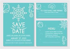 beach wedding invitation card download free vector art With beach wedding invitations vector