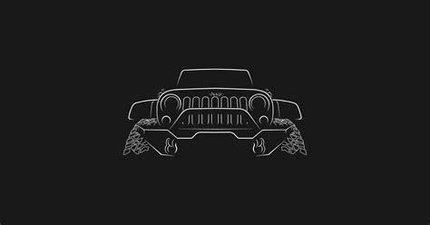 jeep wrangler rubicon front stencil white jeep  shirt teepublic
