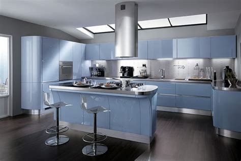 cuisine bleue le bleu nouvelle couleur tendance dans la cuisine