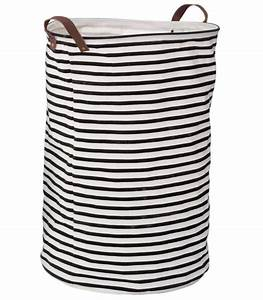 Panier A Linge Blanc : panier linge ray noir et blanc ~ Teatrodelosmanantiales.com Idées de Décoration