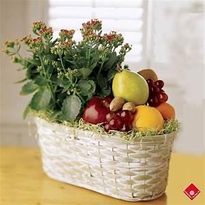 Panier Osier Plante : panier en osier plante et fruits frais montr al le pot de fleurs ~ Teatrodelosmanantiales.com Idées de Décoration