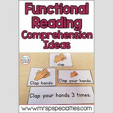 Functional Reading Comprehension  Sped  Teaching Special Education, Autism Education
