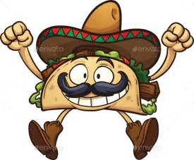Cartoon Taco with Mustache