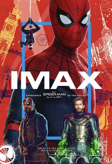 imax poster  spider man   home maintains