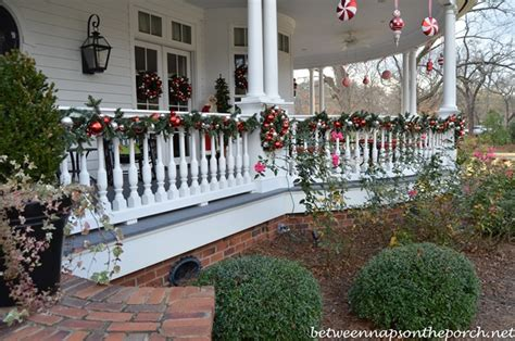 christmas decorating ideas for porch railings porch decorated for halloween