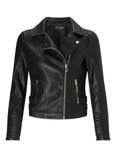 Black Elsy Faux Leather Biker Jacket #yourweekoffashion