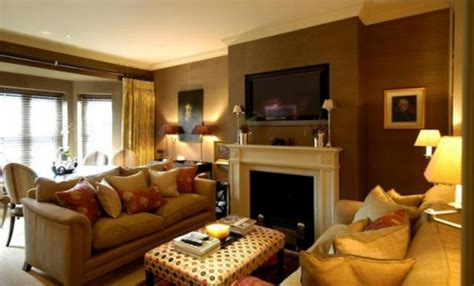 Living Room Ideas Earth Tones by Earth Tone Paint Color Applied On Room Concept Homesfeed