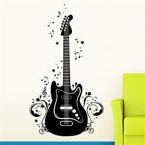 Gitarre Noten Wandtattoo Pictures to Pin on Pinterest