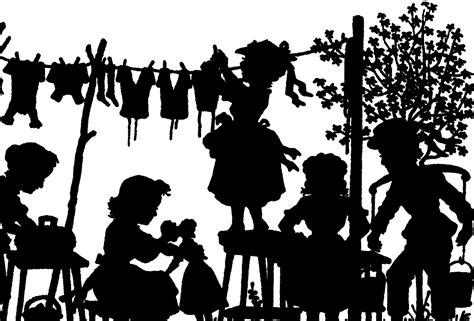 vintage laundry day silhouette image cute
