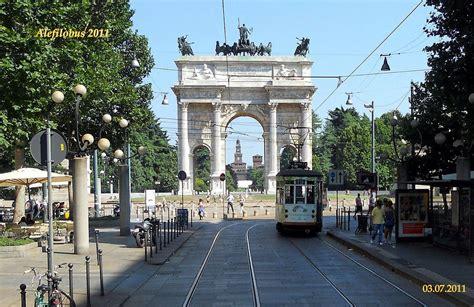 Milano: tram, Arco della Pace e Castello Sforzesco | Flickr