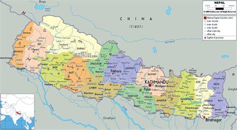 maps  nepal detailed map  nepal  english tourist