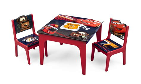 delta children cars deluxe table chair set with storage