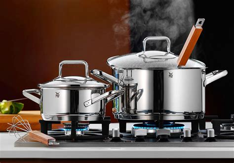 wmf trend stainless steel cookware set  piece cutlery