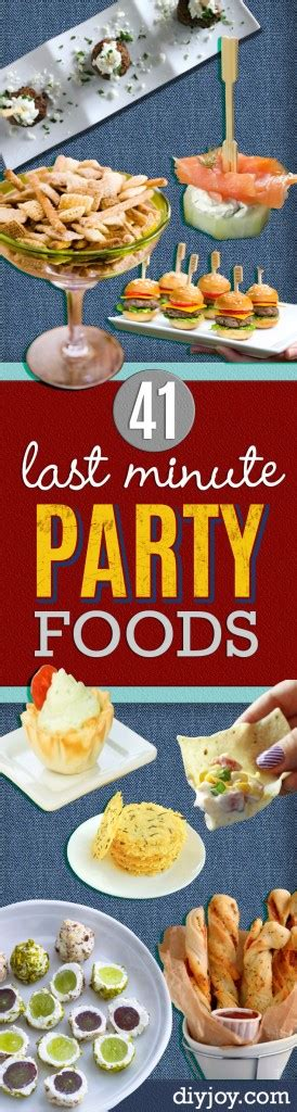 minute party foods