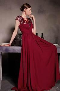 robe soiree longue bordeaux ornee des appliques jmrougefr With robe de soiree bordeau