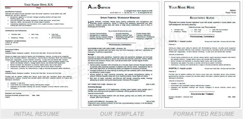 resume headings format