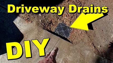 driveway drainage channel drain  catch basin youtube