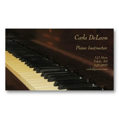 piano business card template 1000 images about piano business cards on