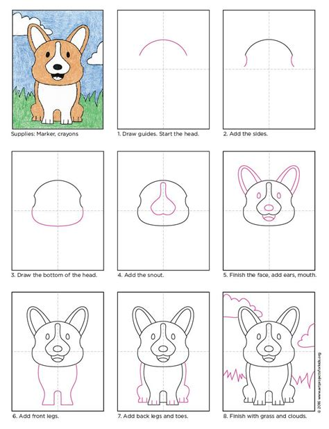 draw  corgi dog apfk tutorials art drawings corgi