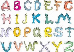 Animal En G : alfabeto em forma de animais vetor de stock mariaflaya ~ Melissatoandfro.com Idées de Décoration