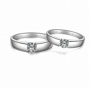 aliexpresscom buy elegant real love 05 carat couple With 5 wedding rings