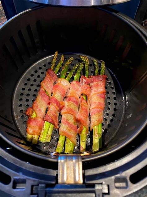 asparagus bacon air wrapped fryer recipe fried legs chicken steak recipes melaniecooks baked
