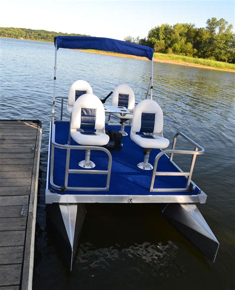 Mini Boat Electric by Mitey Mini Pontoon Boats Outdoors
