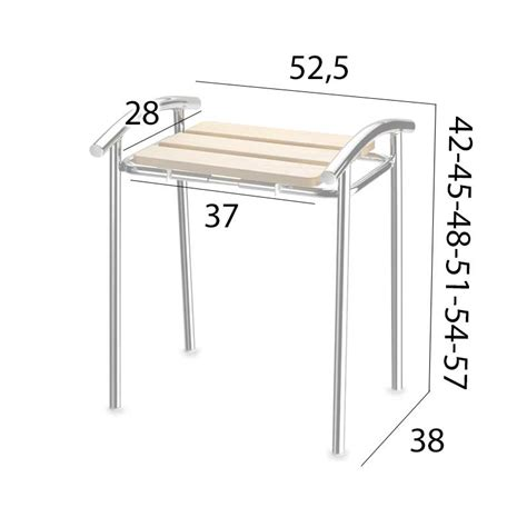 Misure Sgabello by Sgabello Da Bagno Altezza Regolabile Varie Misure 42 45 48