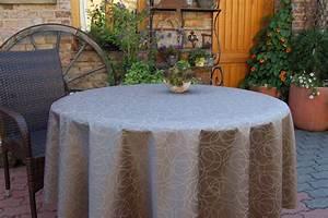 Abwaschbare Tischdecke Rund : abwaschbare tischdecke leonardo acryl rund braun ~ Michelbontemps.com Haus und Dekorationen